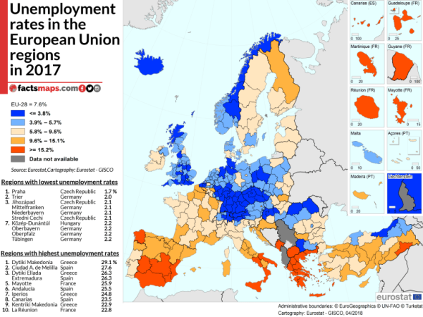 unemployement-euregions