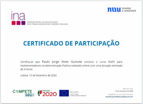 Certificado Nau RPGD