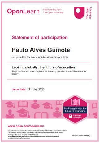Certificado Looking Globally