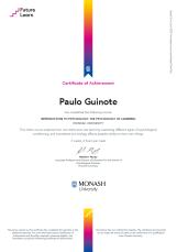 Certificado PsyLearning
