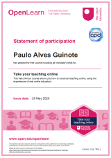 Certificado Teaching